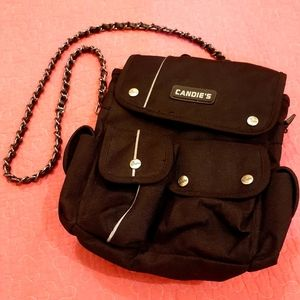 Candie's Mini Black Bag also converts to Backpack
